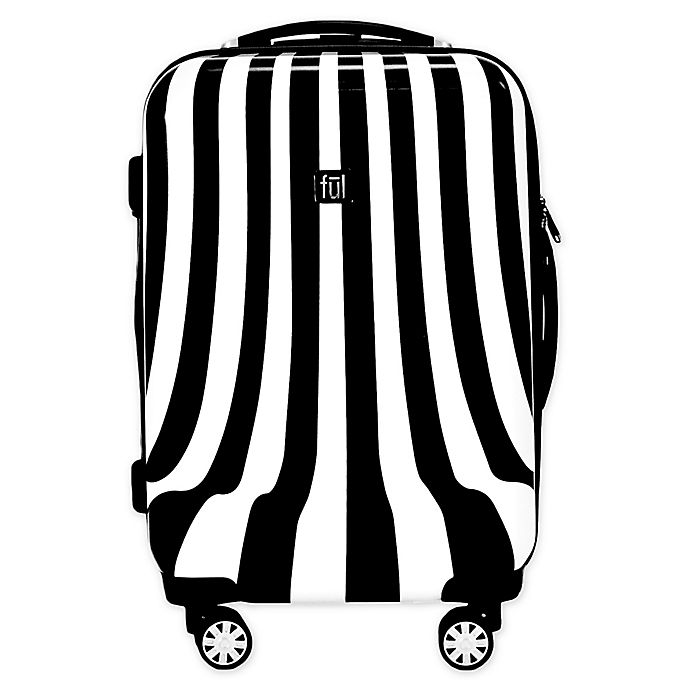Alternate image 1 for Ful® White Swirl 20-Inch Hardside Spinner Carry On Luggage in Black/White