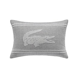 Lacoste® Crocodile Oblong Throw Pillow in Silver/Grey