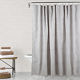 Sara Medallion Shower Curtain in Silver