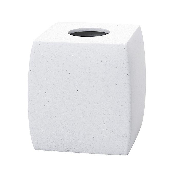 Alternate image 1 for Vitalia Stone Boutique Tissue Box Cover in White
