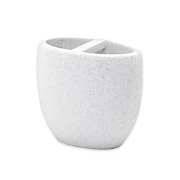 Vitalia Stone Toothbrush Holder in White