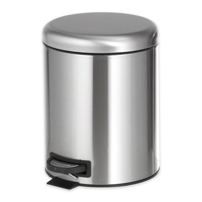 6.5 Liter Step On Trash Can In Stainless Steel by Bed Bath And Beyond