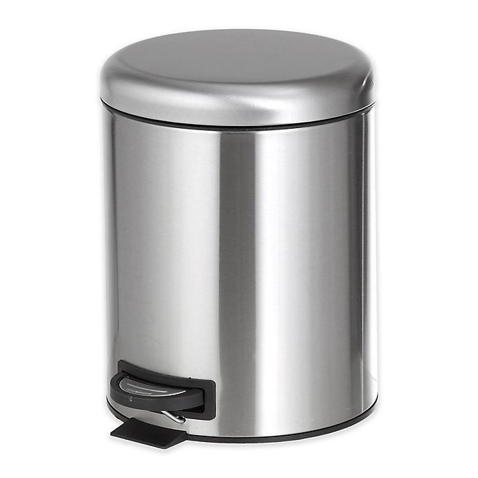 Alternate image 1 for 6.5-Liter Step-On Trash Can in Stainless Steel