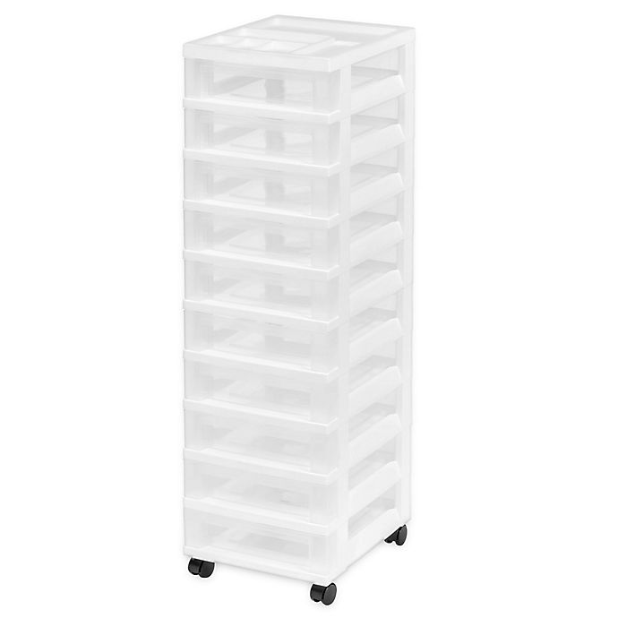 Alternate image 1 for IRIS® 10-Drawer Rolling Storage Cart