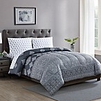 Radisson 4-Piece Reversible Twin Comforter Set in Grey