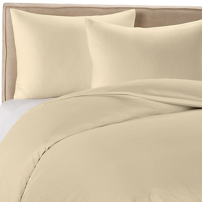 Alternate image 1 for Wamsutta® 400-Thread-Count Solid Duvet Cover Set