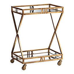 Baxton Studio Louie Bar Cart in Antique Gold