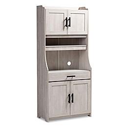 Baxton Studio Annis Kitchen Cabinet in White Wash