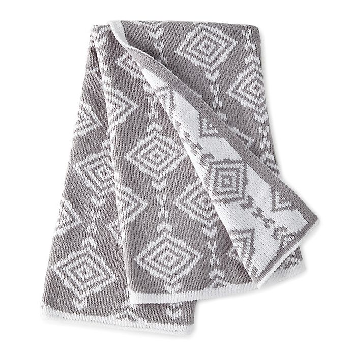 Alternate image 1 for Levtex Baby® Heritage Geometric Chenille Blanket in Grey