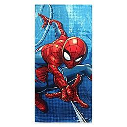 Marvel® Spiderman Blue City Beach Towel