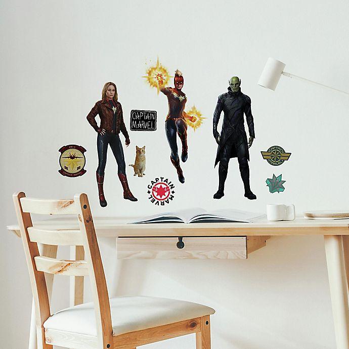 Alternate image 1 for Marvel® 17-Piece Captain Marvel Vinyl Wall Decal Set<br />