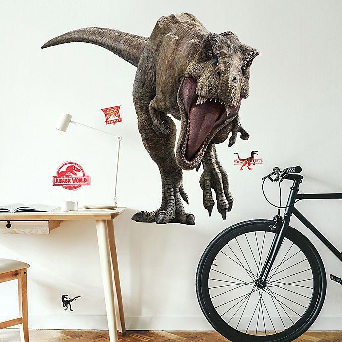 Alternate image 1 for RoomMates® Jurassic World 2 T-Rex 11-Piece Vinyl Wall Decal Set