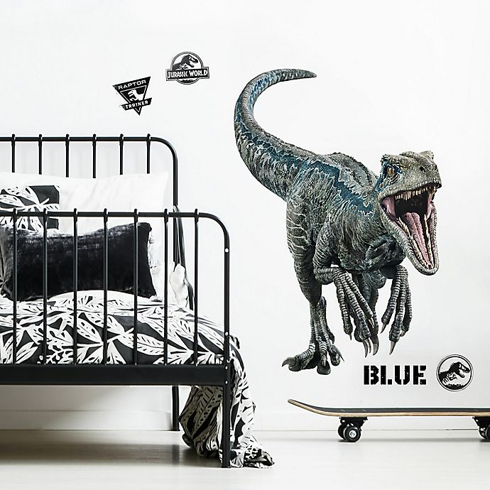 Alternate image 1 for RoomMates® Jurassic World 2 Blue 10-Piece Vinyl Wall Decal Set