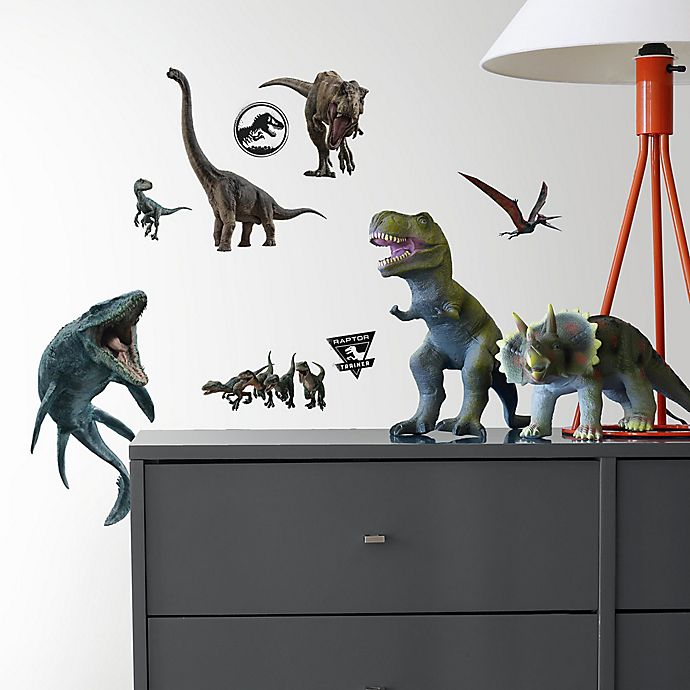 Alternate image 1 for RoomMates® Jurassic World 2 19-Piece Vinyl Wall Decal Set