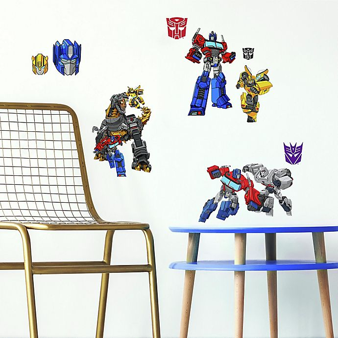 Alternate image 1 for RoomMates® Autobot Transformers Peel and Stick Vinyl Wall Decals