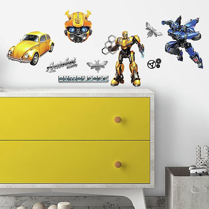 Alternate image 1 for RoomMates® Transformers Bumblebee 27-Piece Vinyl Wall Decal Set
