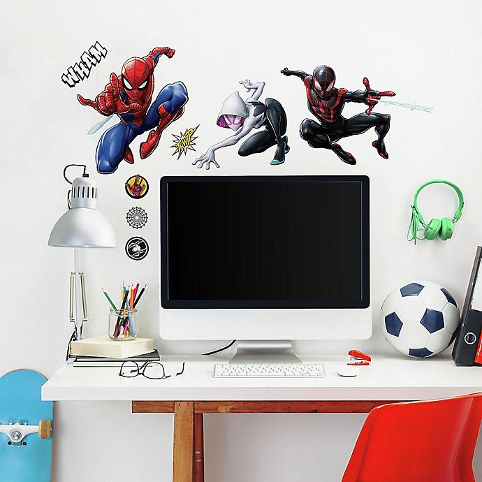 Alternate image 1 for Marvel® Spiderman 15-Piece Vinyl Wall Decal Set