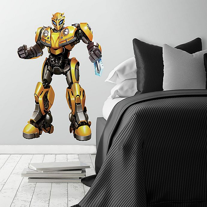 Alternate image 1 for RoomMates® Giant Transformers Bumblebee 16-Piece Vinyl Wall Decal Set