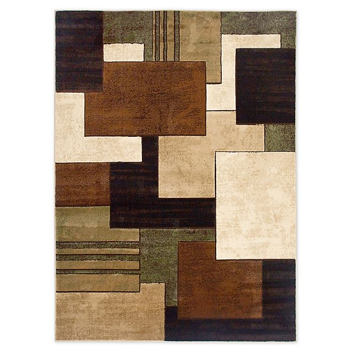 Alternate image 1 for Tribeca Heat Set Box 5-Foot 3-Inch x 7-Foot 2-Inch Area Rug in Brown/Green