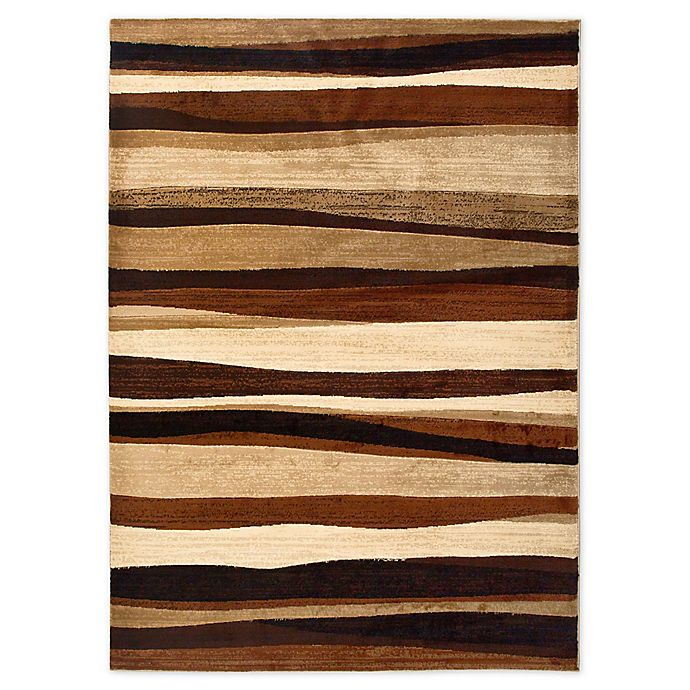 Alternate image 1 for Tribeca Heat Set Wave 5-Foot 3-Inch x 7-Foot 2-Inch Area Rug in Brown