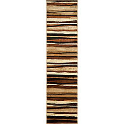Home Dynamix Tribeca 1-Foot 9-Inch x 7-Foot 2-Inch Runner in Brown