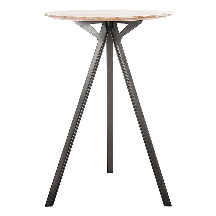Alternate image 1 for Safavieh Axel Tripod Pub Table in Grey/Black