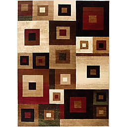 Home Dynamix Tribeca Overlaid Squares Area Rug in Multicolor