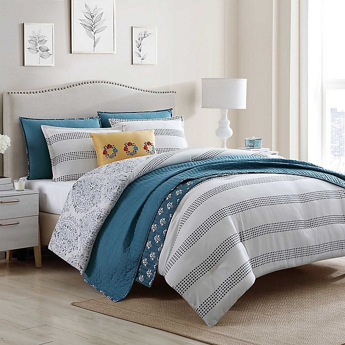 Jenavive 7 Piece Reversible Comforter, King Bedding Set Bed Bath And Beyond