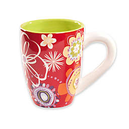 Euro Ceramica Floral Delight 14-Ounce Mugs (Set of 4)