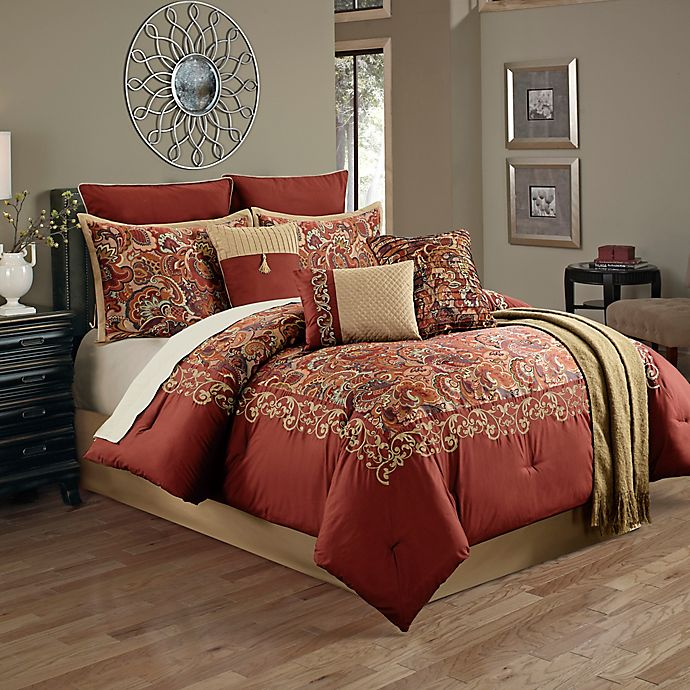 Alternate image 1 for Courtland 14-Piece King Comforter Set in Red