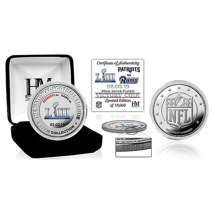Alternate image 1 for NFL New England Patriots Super Bowl LIII Post Season Silver Plated Victory Coin Collection