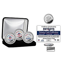 NFL New England Patriots Super Bowl LIII Silver Plated Coin Set