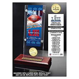 NFL New England Patriots Super Bowl LIII Champions Ticket & Coin Acrylic