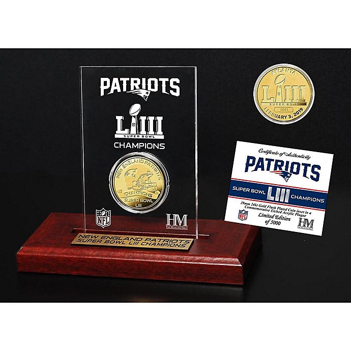 Alternate image 1 for NFL New England Patriots Super Bowl LIII Champions Gold Plated Coin