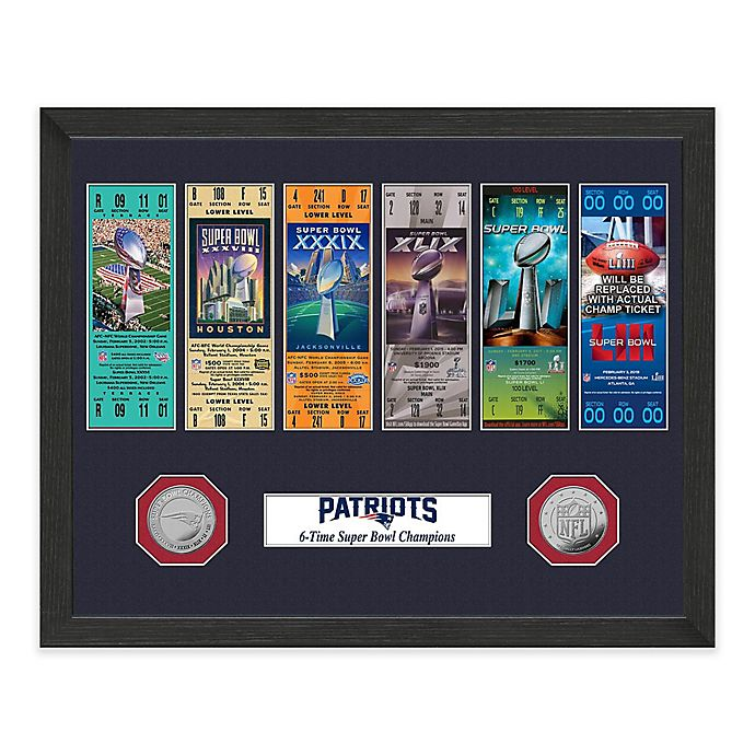 141abe27 NFL New England Patriots 6-Time Super Bowl Ticket Collection | Bed ...