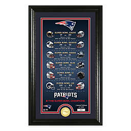 NFL New England Patriots 6-Time Super Bowl Champions Legacy Bronze Coin Photo Mint