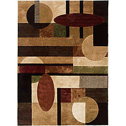 Home Dynamix Tribeca Contemporary 7-Foot 10-Inch x 10-Foot 6-Inch Area Rug in Multicolor