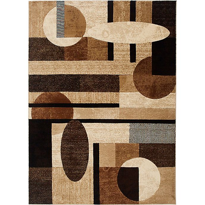 Alternate image 1 for Home Dynamix Tribeca Contemporary 5-Foot 2-Inch x 7-Foot 2-Inch Area Rug in Brown