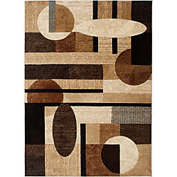 Home Dynamix Tribeca Contemporary 5-Foot 2-Inch x 7-Foot 2-Inch Area Rug in Brown