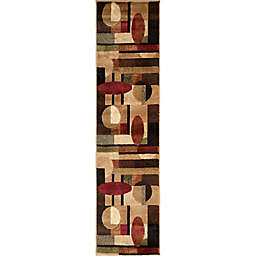 Home Dynamix Tribeca Contemporary 1-Foot 9-Inch x 7-Foot 2-Inch Runner in Brown