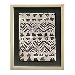 Tribal Print Framed Print Wall Art in Black/White