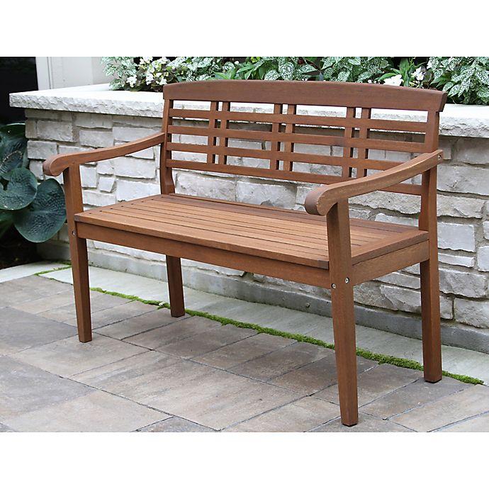 Incredible Outdoor Interiors Parkway Eucalyptus Wood Outdoor Bench Machost Co Dining Chair Design Ideas Machostcouk