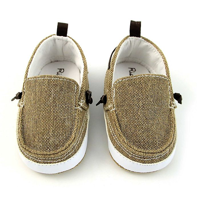 Alternate image 1 for Rising Star™ Size 3-6M Twin Gore Shoe in Tan
