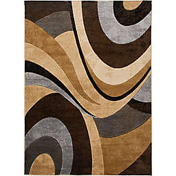 Home Dynamix Tribeca 7-Foot 10-Inch x 10-Foot 6-Inch Area Rug in Brown/Grey