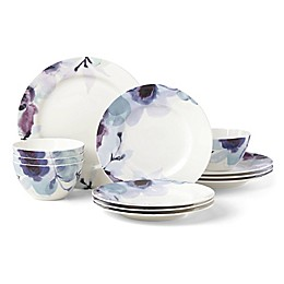 Lenox® Indigo Watercolor Floral™ 12-Piece Dinnerware Set