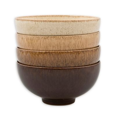 Denby Studio Craft Rice Bowls In Brown Set Of 4 Bed Bath Beyond