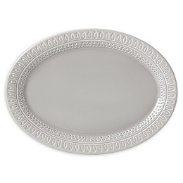kate spade new york Willow Drive Grey™ 14-Inch Oval Platter