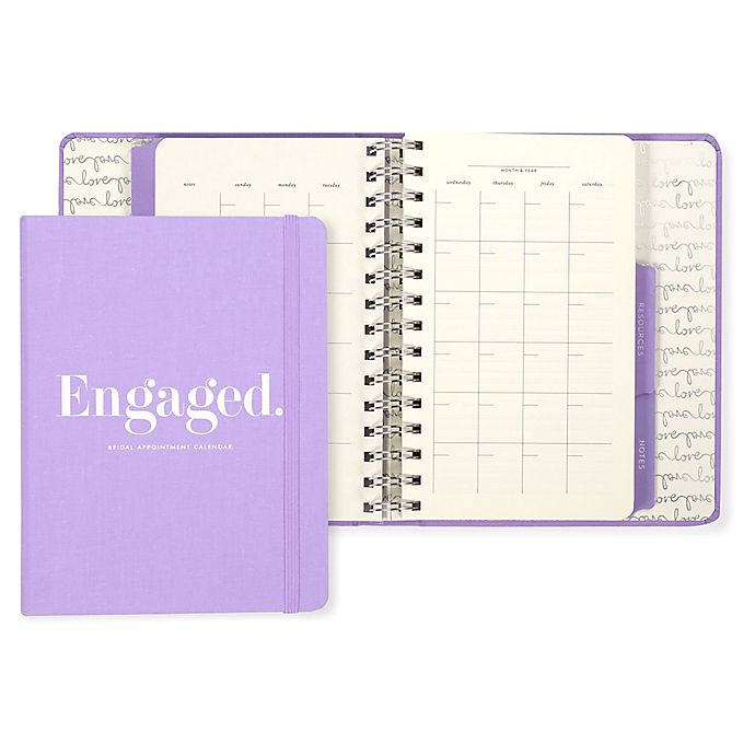Alternate image 1 for kate spade new york Bridal Appointment Calendar in Light Purple
