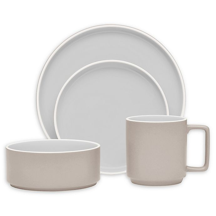 Alternate image 1 for Noritake® ColorTrio Stax 4-Piece Place Setting in Sand