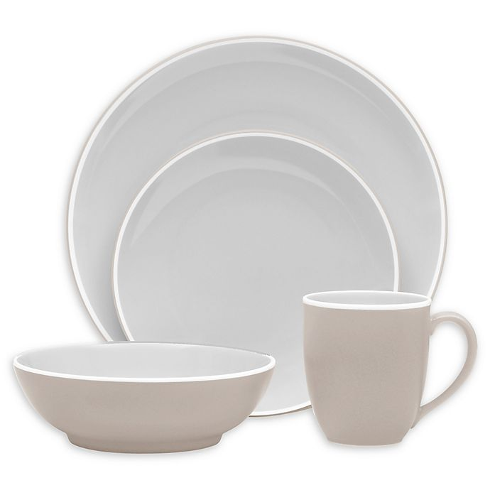 Alternate image 1 for Noritake® ColorTrio Coupe 4-Piece Place Setting in Sand